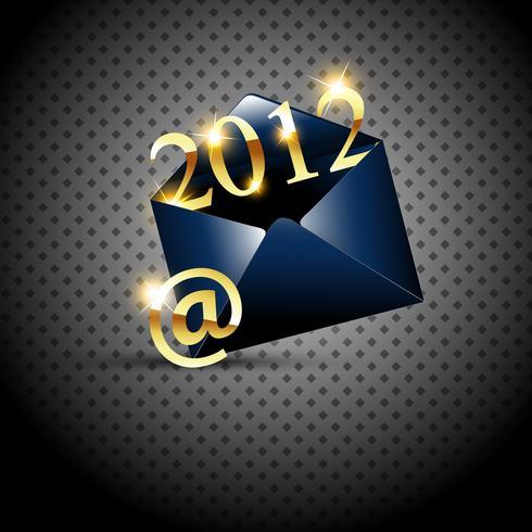 gouden gelukkig nieuwjaar