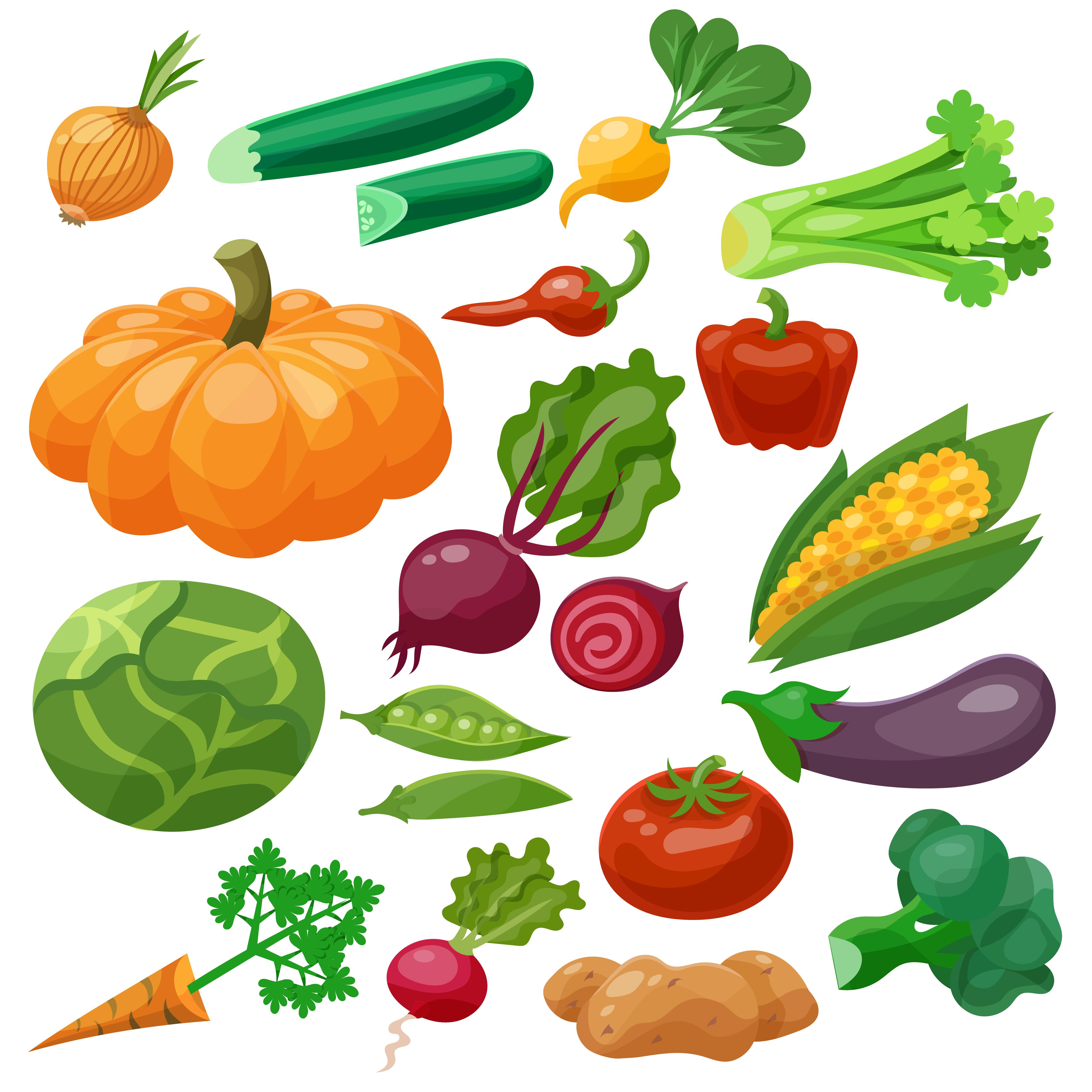 Vegetables Icons Set 461333 - Download Free Vectors