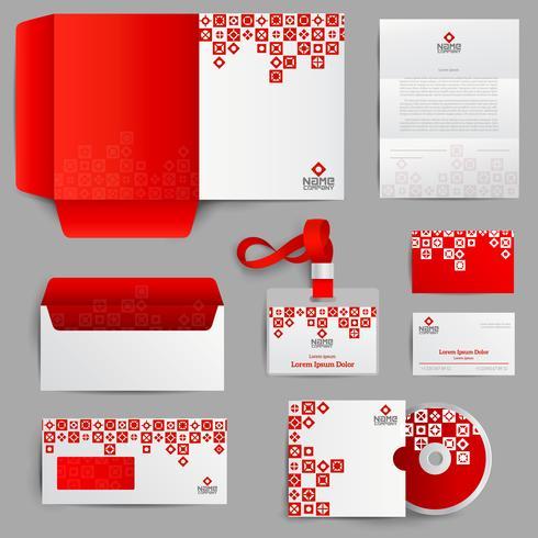 Identità aziendale rosso