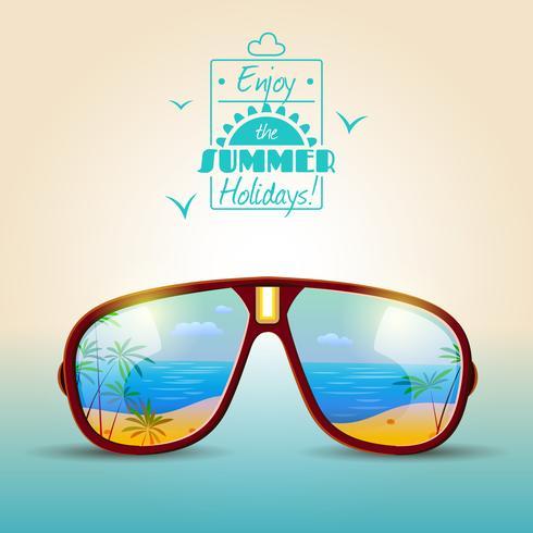 poster estivo di occhiali da sole vettore