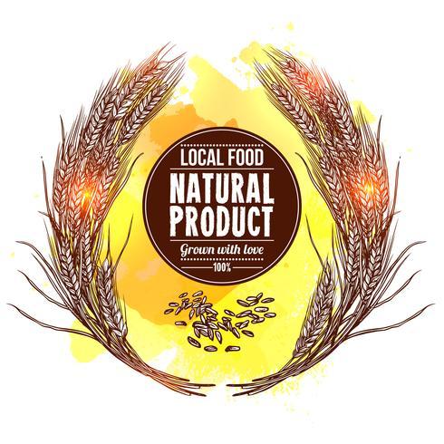 Illustrazione di corona di grano