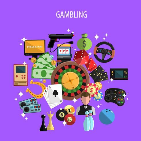 Gokken en Games Concept