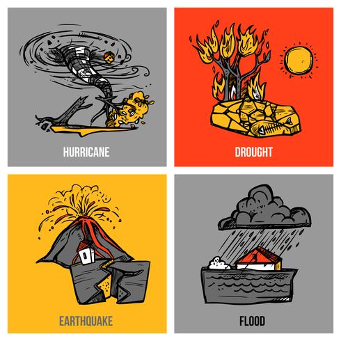 Natural Disasters Set vector