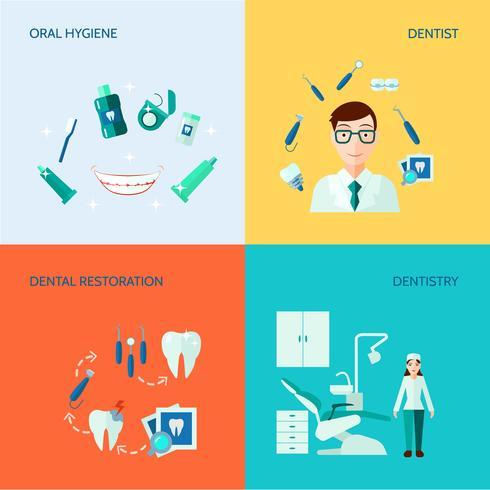 Dental dekorativa ikonuppsättning