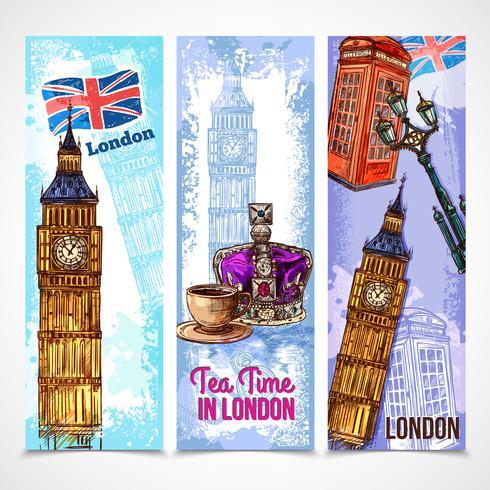 ensemble de bannière de Londres