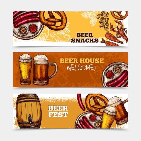 Jeu de bannière de bière