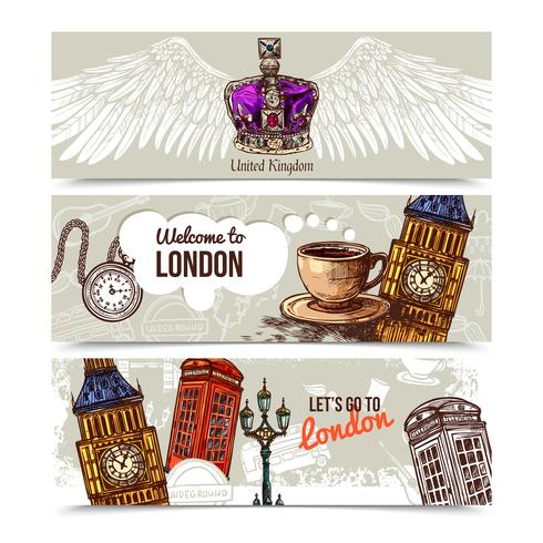 London bannières horizontales