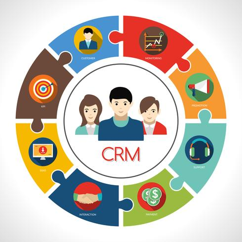 Crm koncept illustration