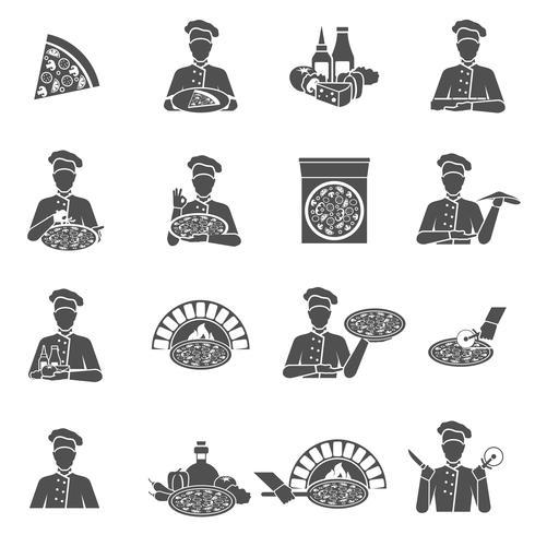 Pizza Maker ícones vetor