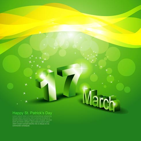 S t. patrick day design vector
