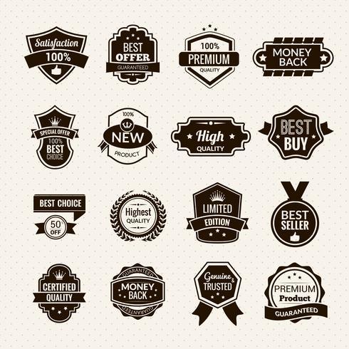 Étiquettes de luxe noir
