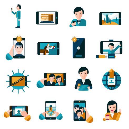 Set di icone foto mobile