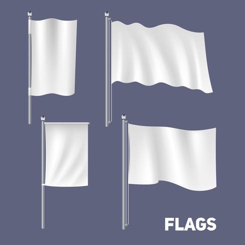 Set di bandiere realistiche