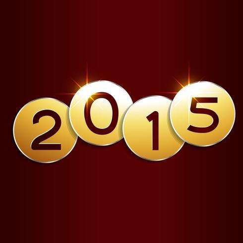 cerchi d'oro con il nuovo anno 2015