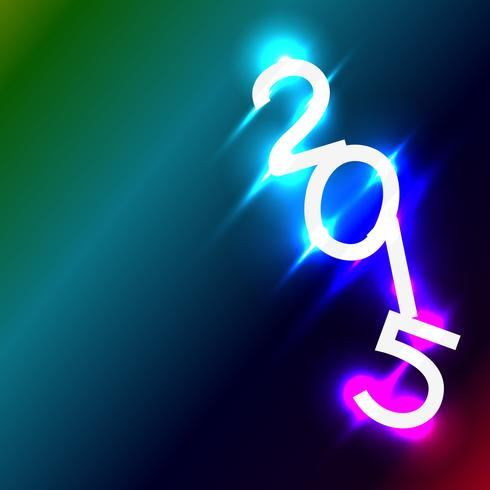 vecteur de coups brillants colorés en 2015