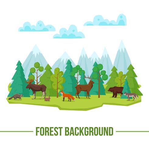 Waldtiere Hintergrund