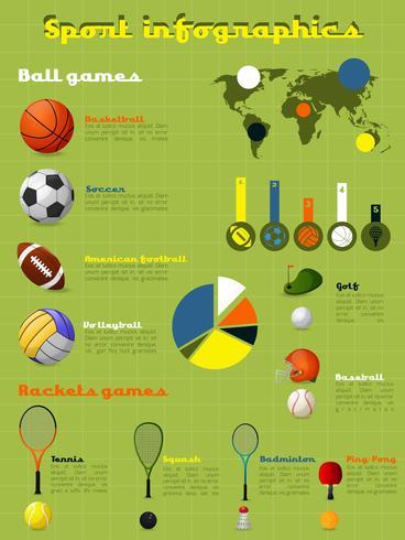 Conjunto de infográficos de esportes