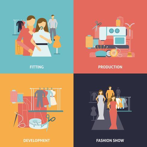 Conjunto de ícones de design de roupas
