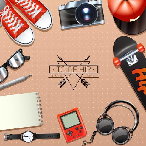 Hipster achtergrond illustratie