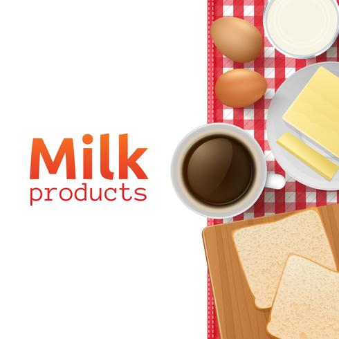 Milk and dairy products concept