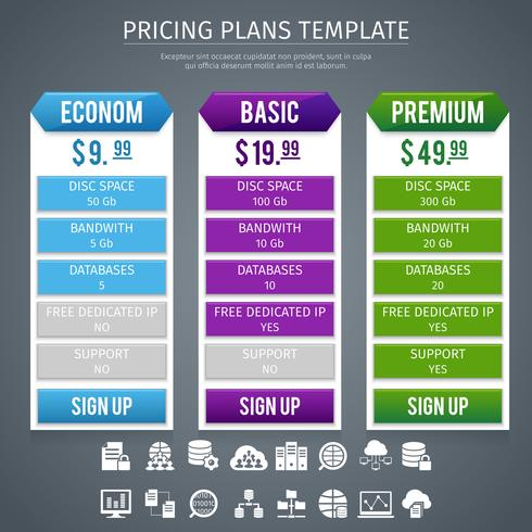 Software prijsstelling plannen sjabloon