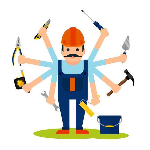 Concept of handyman worker vector