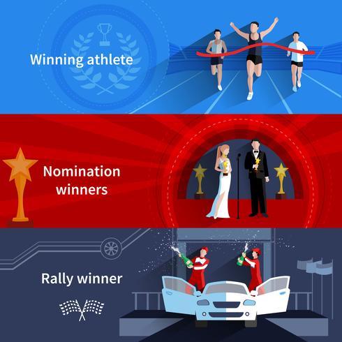 Ensemble de bannières Sports et nominations