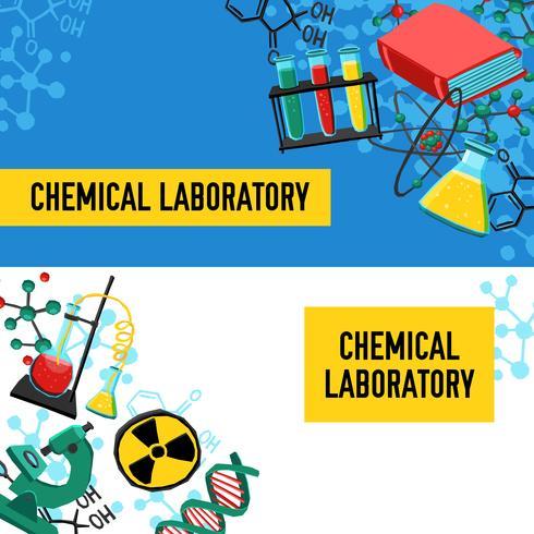 Conjunto de Banners de laboratorio vector