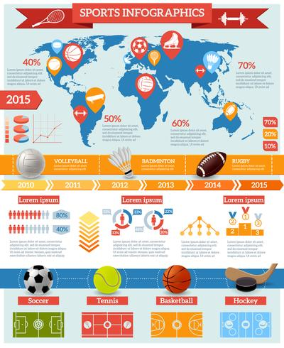Set d'infographie de sport vecteur