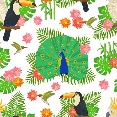 Fågel Seamless Pattern
