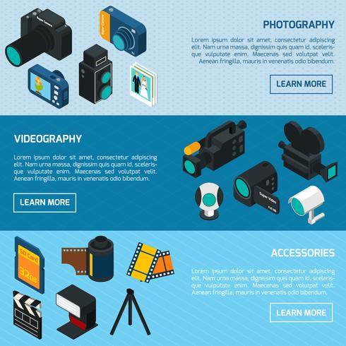 Foto och video banners vektor