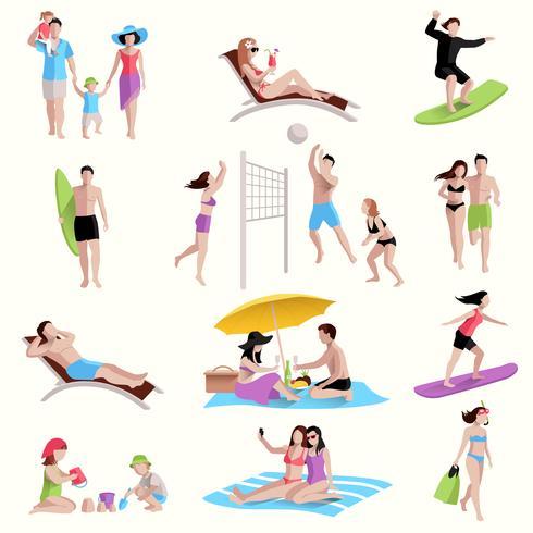 Menschen am Strand Icons