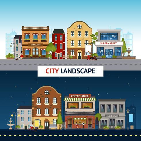 Set di banner di città