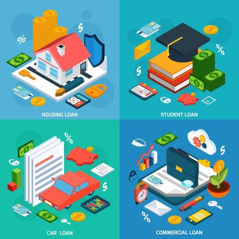 Loans Isometric Set