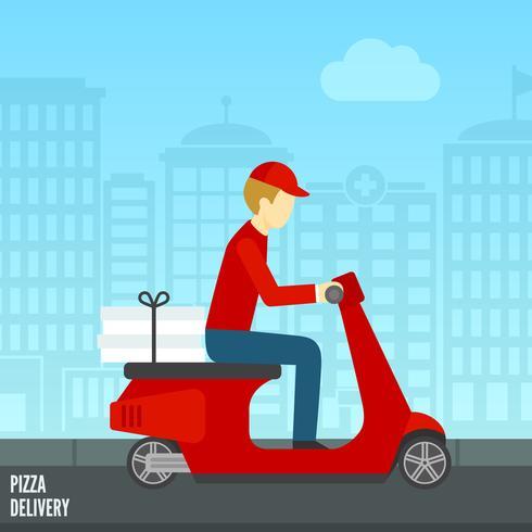Pizza leveransikon vektor