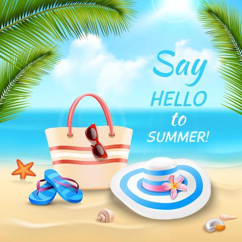 Urlaub Hintergrund Illustration