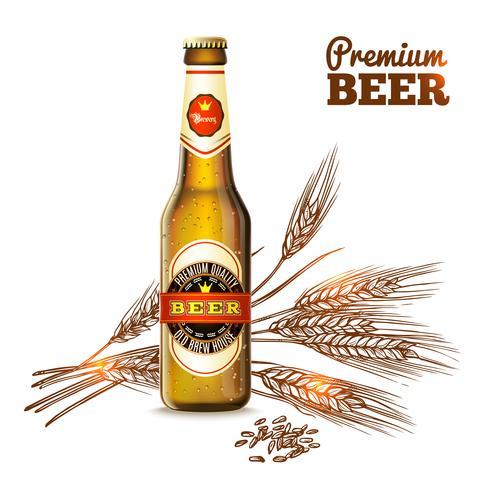 Concepto de boceto de cerveza