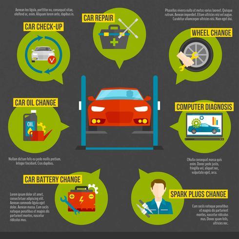 Auto Mechanic Infographics vector
