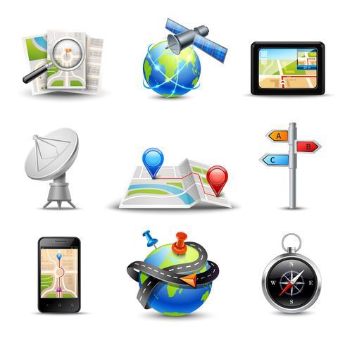 Iconos de navegación realista