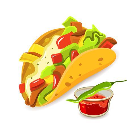 Mexikansk mat Taco Concept vektor