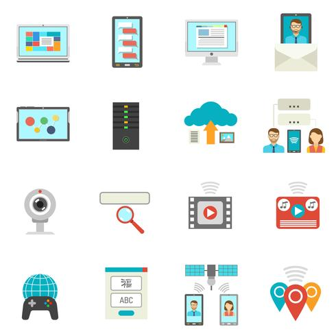 It Flat Icons Set vector