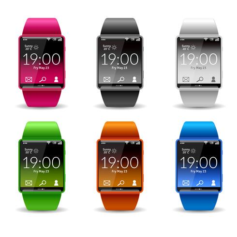 smart watch icon set