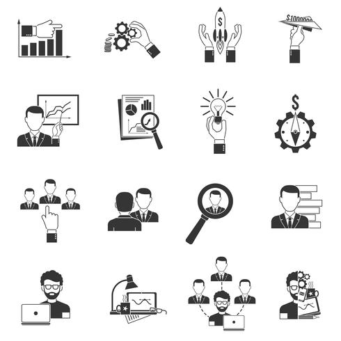 Business Icon Black vector