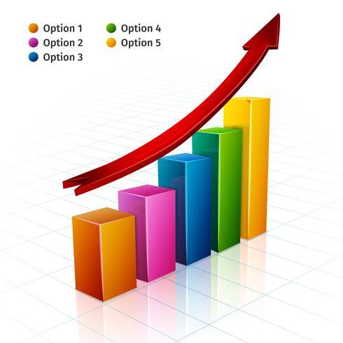 Business Graph 3d vector