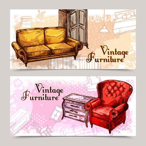 Ensemble de bannière de meubles