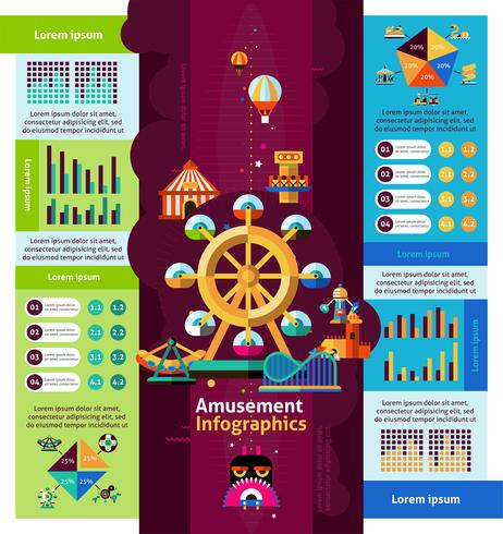 Amusement Park Infographics vector