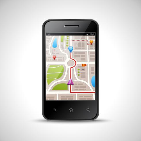 Ilustración de navegación de smartphone vector