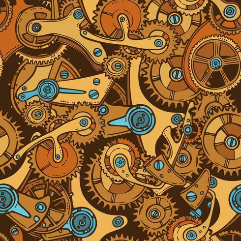 Ingenieros bosquejan color de patrones sin fisuras vector
