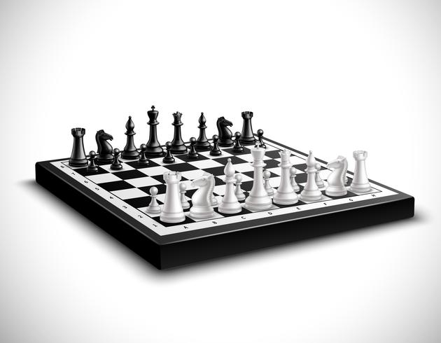 Realistic Chess Board Illustration vector