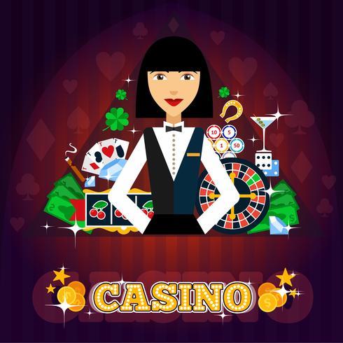 Concepto de distribuidor de casino